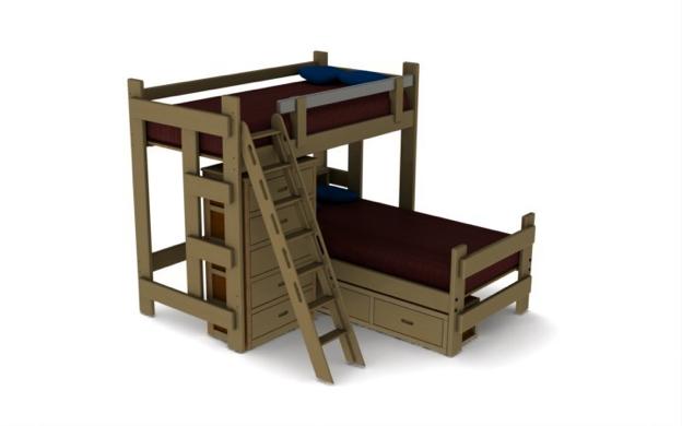 Tall loft bed