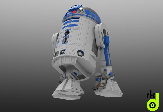 Star Wars 3D Models for SolidWorks: Tie Fighter, Lightsabers, R2D2