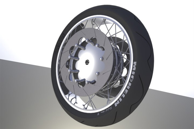 Motorcycle front wheel model