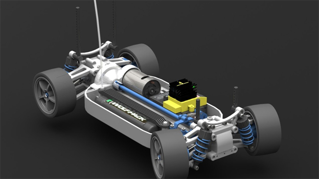 5 Incredibly Detailed R/C Car CAD Models