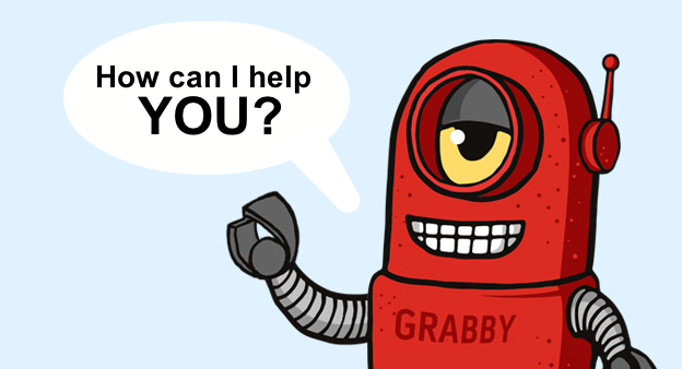 How can Grabby the Bot help you?