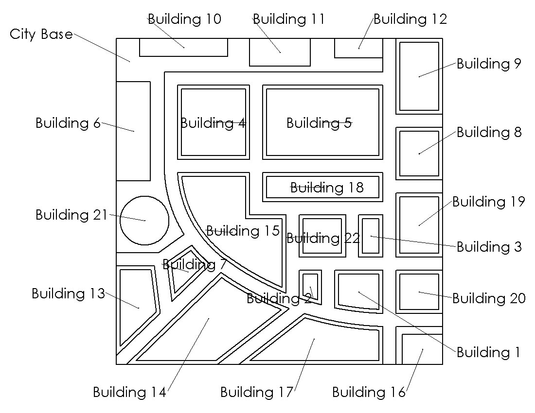 Solidworks City Original Building Grid