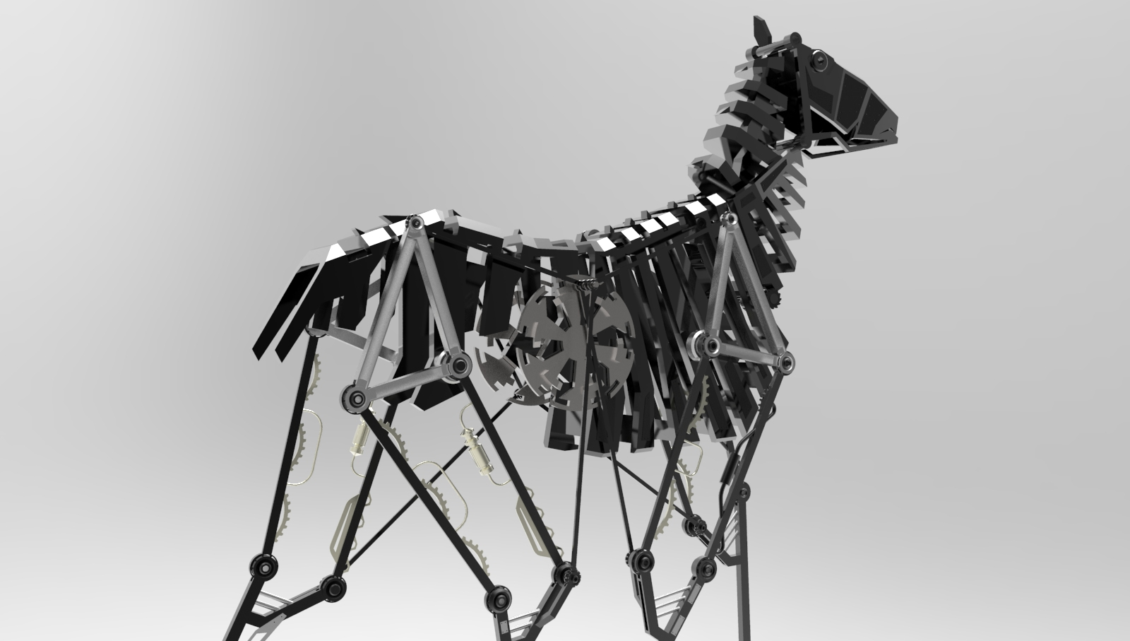 Mechanical Horse on GrabCAD