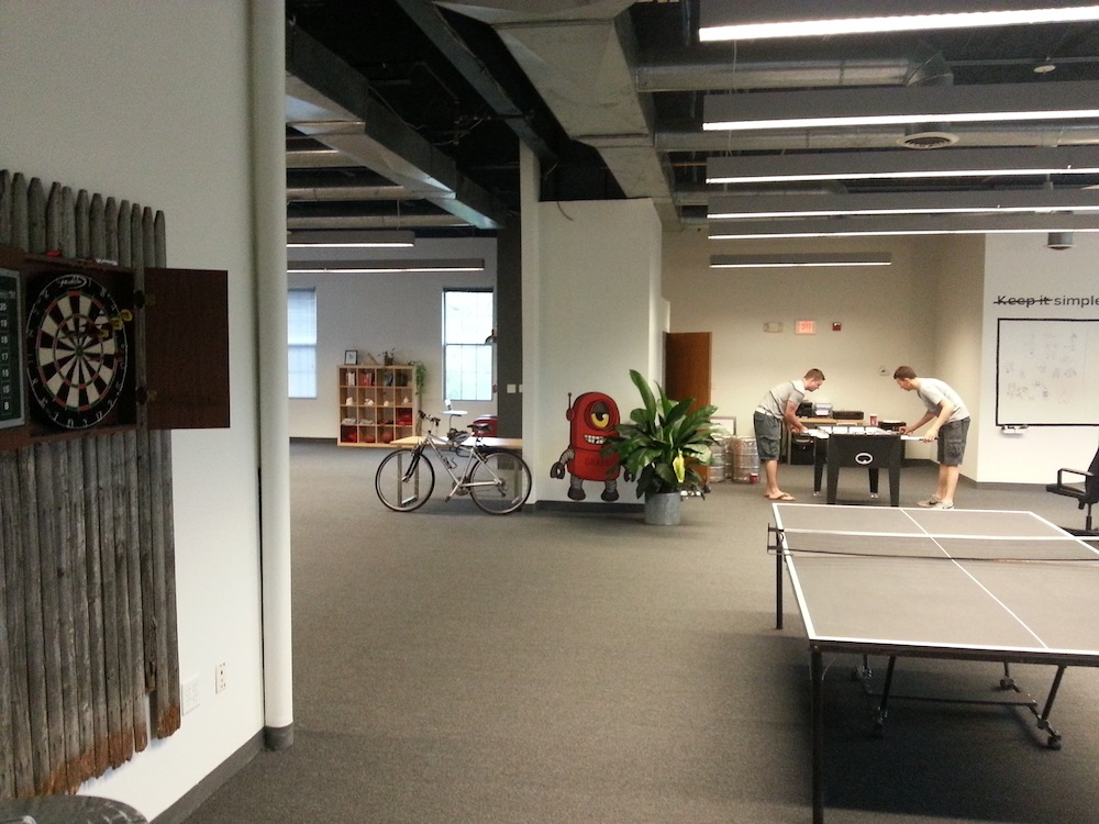 Weu0027ve Recently Added A Foosball And Pingpong Table, Not To Mention A Nice Dart  Board Setup.