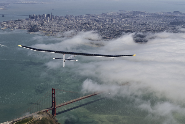 Solar Impulse Across America - Golden Gate Flight - Revillard