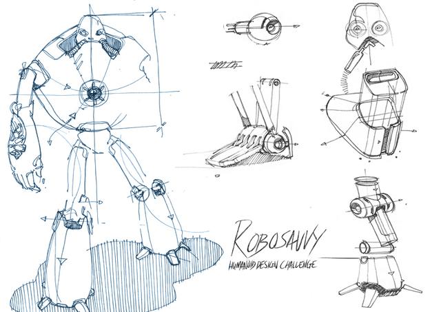 RoboSavvy Humanoid Robot Challenge on GrabCAD