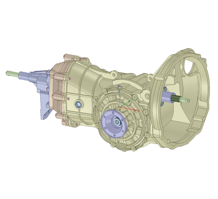 See '78 Beetle Transmission in SpaceClaim in 3D on GrabCAD