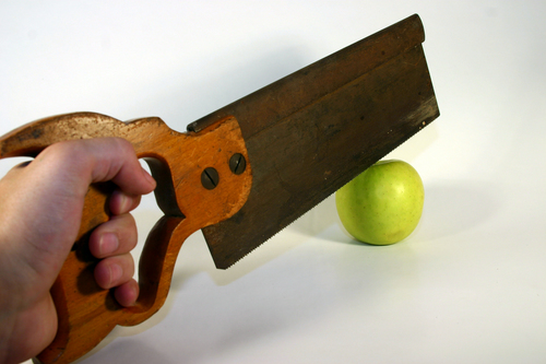 Wrong tool for the job (Apple saw via http://www.on24.com)