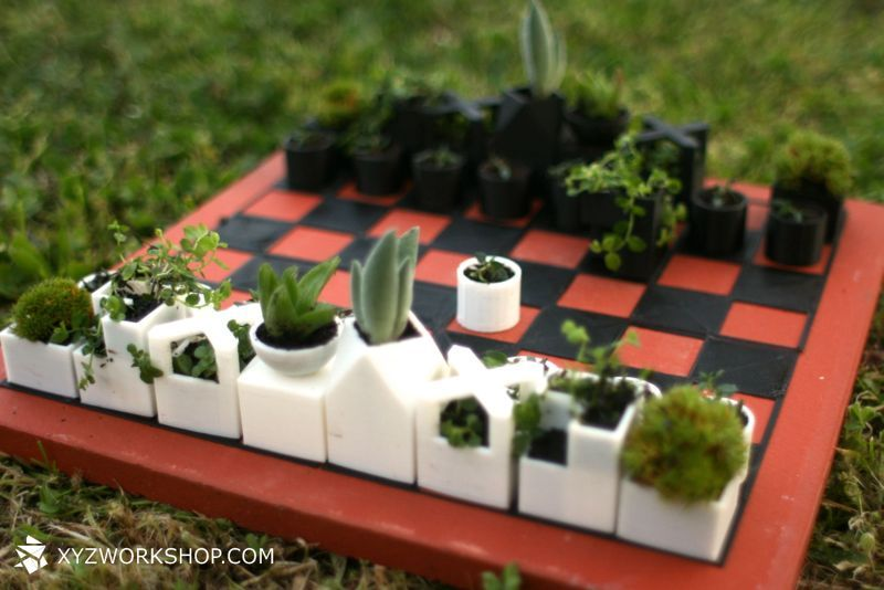 Micro Planter Chess Set STL Rendering Other By Kae Woei Lim on GrabCAD