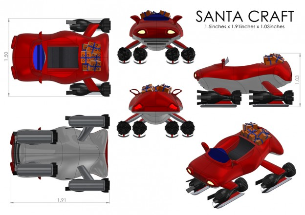 3DPrintMyGift, Santa Craft by Tommy Mueller on GrabCAD