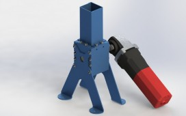 Mini plastic shredder grinder crusher Rendering SolidWorks 2012 STEP / IGES STL Other By Marcus