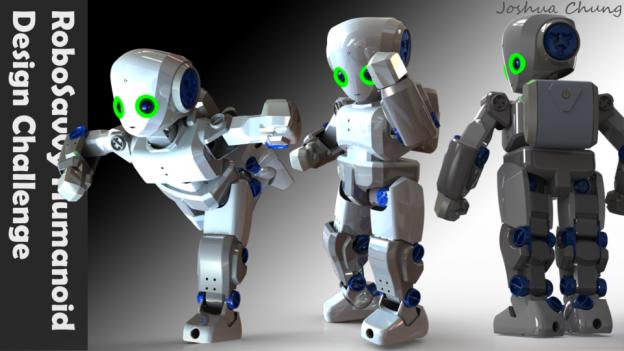 Joshua Chung, Winner of RoboSavvy Humanoid Design Challenge on GrabCAD