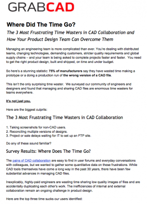 The 3 Most Frustrating Time Wasters in CAD Collaboration and How Your Product Design Team Can Overcome Them