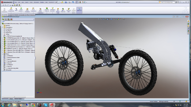 Dirt Force Motorcycles CAD model