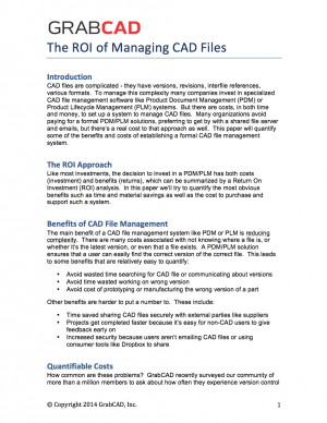 The ROI of Managing CAD Files