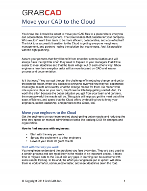 Move your CAD to the Cloud